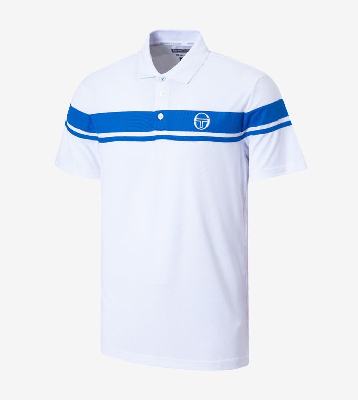 YOUNG LINE PRO POLO [WHITE/ROYAL]