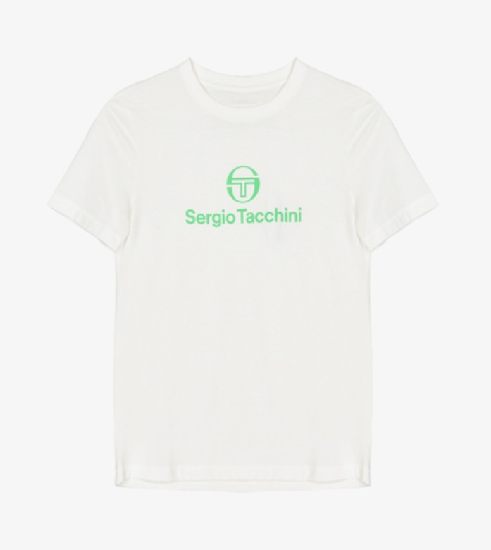 TCP TRAINING SS TSHIRT WOMAN [BLANC DE BLANC/ISLAND GREEN ]