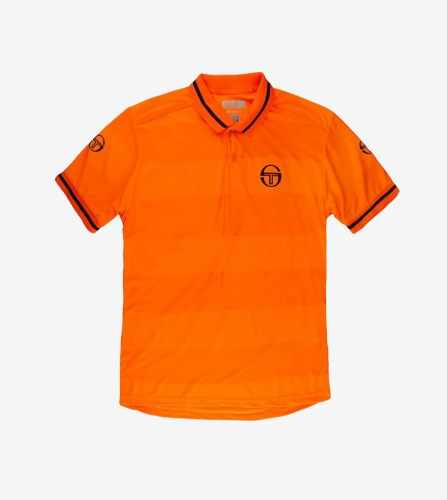 RETRO POLO_ORANGE/NAVY_남성