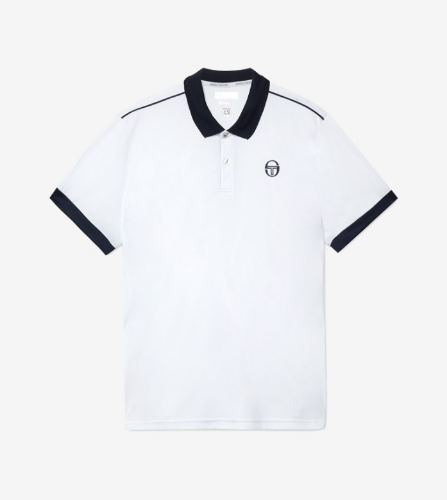 CLUB TECH POLO [WHITE/NAVY]
