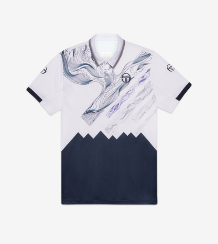 LIQUIFY POLO  [WHITE/NAVY/DEEP BLUE]