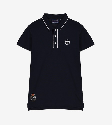 FIORE/MC/STAFF POLO [NAVY/WHITE]
