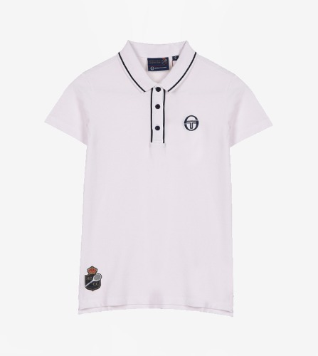 FIORE/MC/STAFF POLO [WHITE/NAVY]