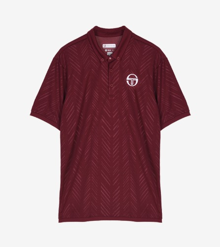 CHEVRON POLO [BORDEAUX/WHITE]
