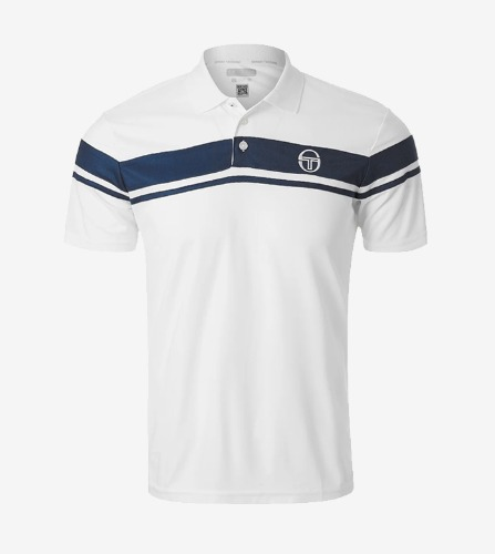 YOUNG LINE PRO POLO [WHITE/NAVY]